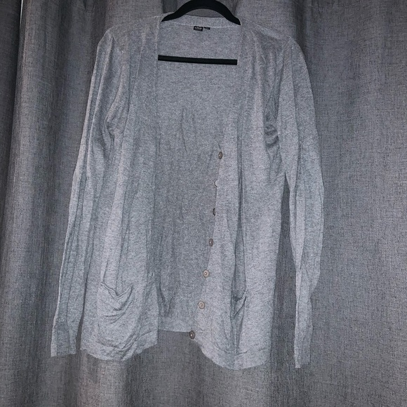 icone Sweaters - Grey Button Up Cardigan